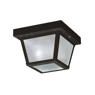 "Kichler Lighting 365BK 7.5"" 1 Light Flush Mount Black"
