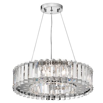 Kichler Lighting 42195CH CLEARANCE SALE - Crystal Skye™ 8 Light Halogen Chandelier Chrome