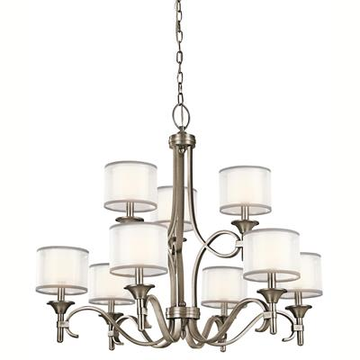 Kichler Lighting 42382AP Lacey™ 9 Light Chandelier Antique Pewter