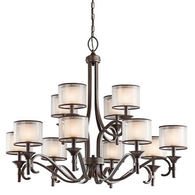Kichler Lighting 42383MIZ Lacey™ 12 Light Chandelier Mission Bronze