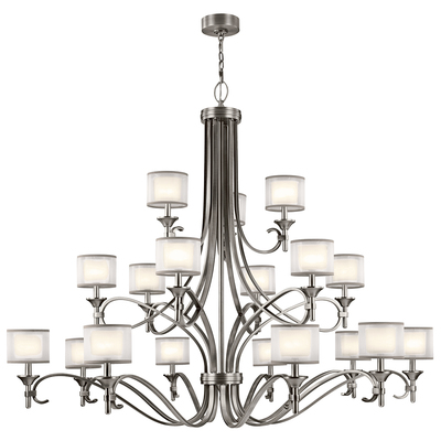 Kichler Lighting 42396AP Lacey™ 18 Light Grand Chandelier Antique Pewter