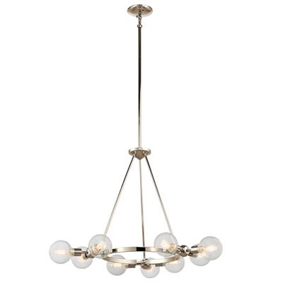 Kichler Lighting 42474PN Garim™9 Light Chandelier Polished Nickel