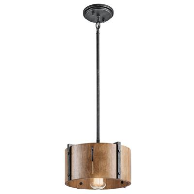 Kichler Lighting 42643DBK Elbur™ 1 Light Convertible Pendant Distressed Black