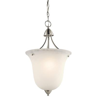 Kichler Lighting 42882NI Nicholson™ 1 Light Foyer Pendant Brushed Nickel
