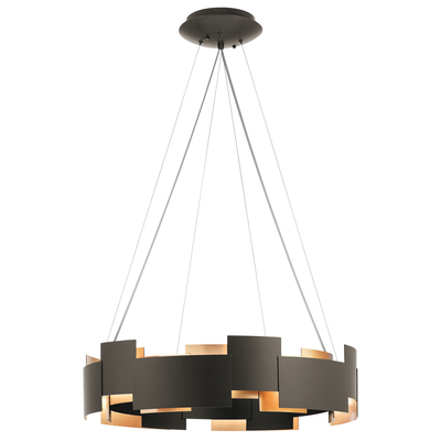 "Kichler Lighting 42992OZLED Moderne 26.5"" LED Chandelier Olde Bronze®"