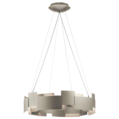 "Kichler Lighting 42992SNLED Moderne 26.5"" LED Chandelier Satin Nickel"