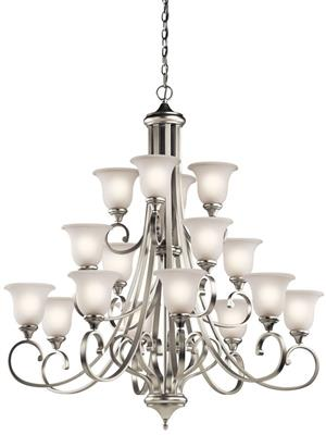 Kichler Lighting 43192OZ Monroe™ 16 Light Multi-Tier Chandelier Olde Bronze®