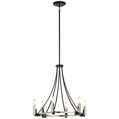 Kichler Lighting 43290BK Bensimone™ 6 Light Chandelier Black