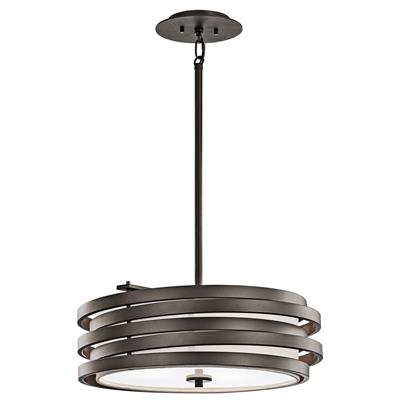 Kichler Lighting 43301OZ Roswell™ 3 Light Pendant Olde Bronze®