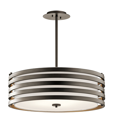 Kichler Lighting 43390OZ Roswell™ 4 Light Pendant Olde Bronze®