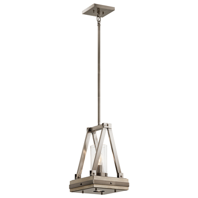Kichler Lighting 43435CLP Colerne™ 16.5' 2 Light Pendant with Clear Seeded Glass Classic Pewter