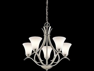 Kichler Lighting 43504NI Keiran™ 5 Light Chandelier Brushed Nickel