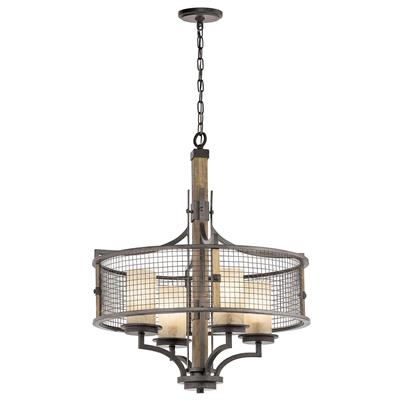 Kichler Lighting 43582AVI Ahrendale™ 4 Light Chandelier Anvil Iron