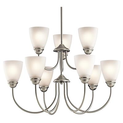 Kichler Lighting 43639NI Jolie 9 Light Chandelier Brushed Nickel