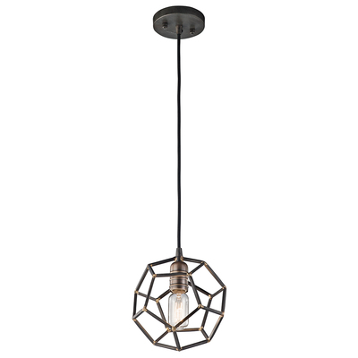 Kichler Lighting 43719RS  ROCKLYN COLLECTION Rocklyn™ 1 Light Mini Pendant Raw Steel