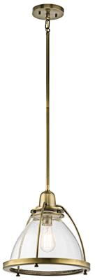 Kichler Lighting 43737NBR Silberne™ 1 Light Pendant Natural Brass Natural Bronze
