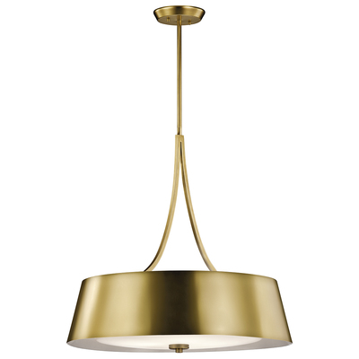 Kichler Lighting 43742NBR Maclain 4 Light Round Pendant Natural Bronze