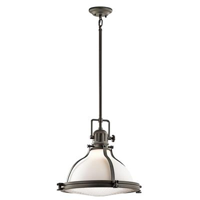 "Kichler Lighting 43767OZ Hatteras Bay™ 18"" Pendant Olde Bronze®"
