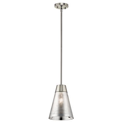 Kichler Lighting 43792NI Rowland 1 Light Mini Pendant Brushed Nickel