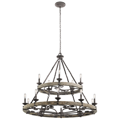 Kichler Lighting 43826WZC Taulbee™ 15 Light Chandelier Weathered Zinc