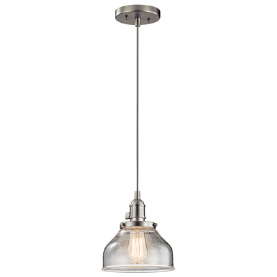 Kichler Lighting 43850NI Avery™ 1 Light Bell Mini Pendant Brushed Nickel