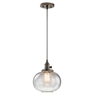 "Kichler Lighting 43852OZ Avery™ 9.75"" 1 Light Mini Pendant Olde Bronze®"