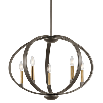 Kichler Lighting 43871OZ Elata 5 Light Chandelier Olde Bronze®