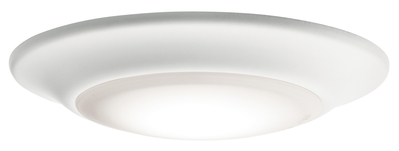 "Kichler Lighting 43878WHLED30 Downlight Gen I 6"" 3000K LED Flush Mount White"
