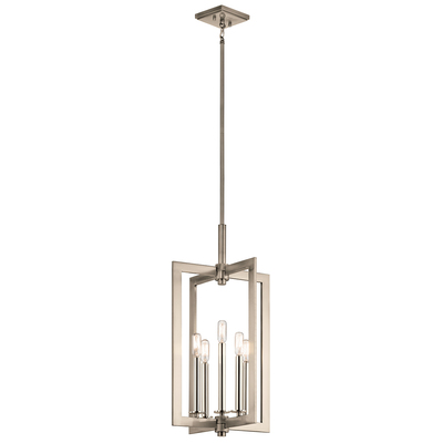 "Kichler Lighting 43900CLP Cullen 14"" 5 Light Foyer Pendant Classic Pewter"