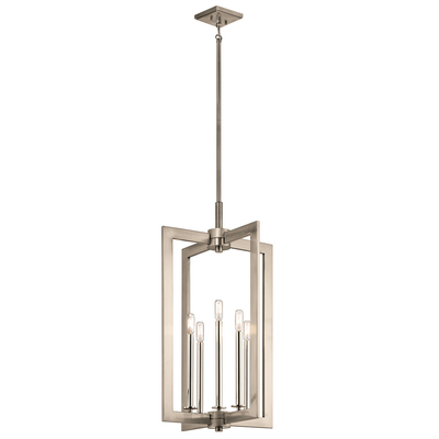 "Kichler Lighting 43902CLP Cullen 18"" 5 Light Foyer Pendant Classic Pewter"