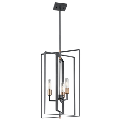 Kichler Lighting 43983BK Foyer Pendant 3Lt