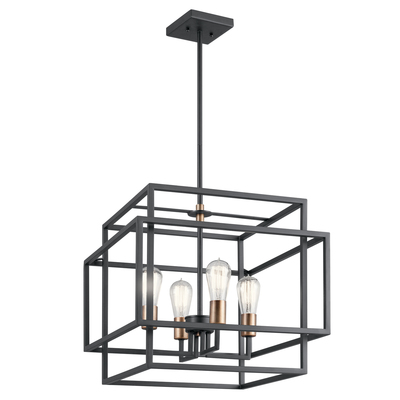 Kichler Lighting 43984BK Taubert™ 4 Light Pendant Black