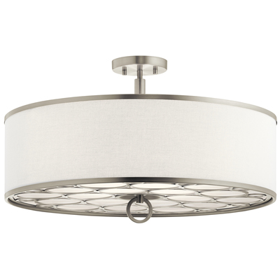 Kichler Lighting 43988NI CLEARANCE SALE - Melrose 4 Light Convertible Pendant Brushed Nickel