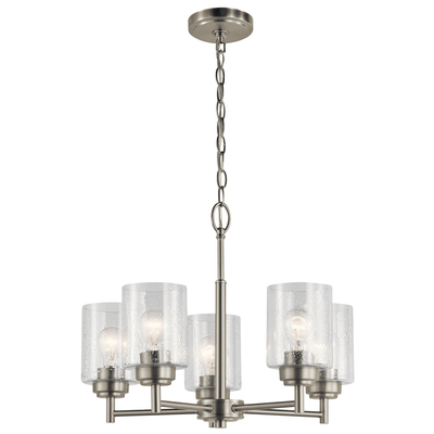 Kichler Lighting 44030NI Winslow™ 5 Light Chandelier Brushed Nickel