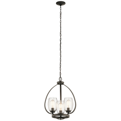 Kichler Lighting 44059OZ Tuscany 3 Light Mini Chandelier Olde Bronze®