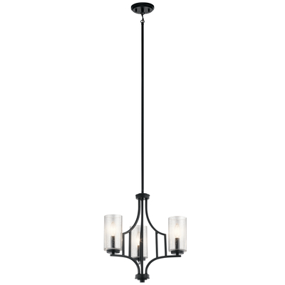 Kichler Lighting 44071DBK Vara 3 Light Mini Chandelier Distressed Black
