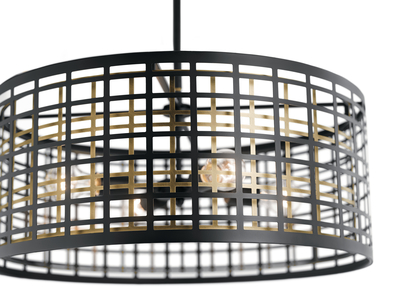 Kichler Lighting 44076BK Aldergate™ 4 Light Chandelier Black