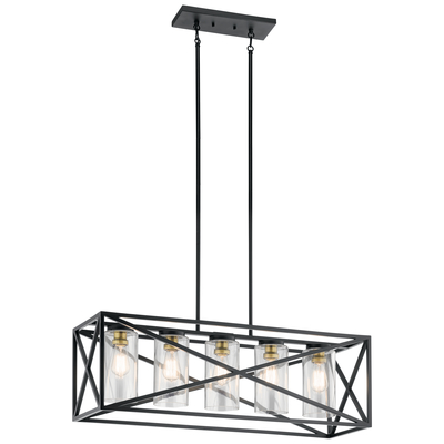 Kichler Lighting 44081BK Linear Chandelier 5Lt