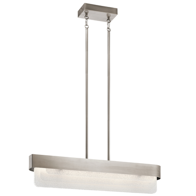 Kichler Lighting 44160CLPLED Serene LED Linear Chandelier Classic Pewter