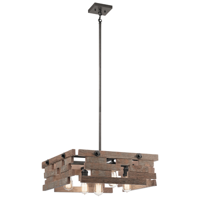 Kichler Lighting 44228AVI Cuyahoga Mill™ 5 Light Chandelier Anvil Iron
