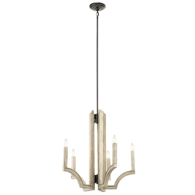 Kichler Lighting 44260AVI Botanica 5 Light Chandelier Anvil Iron