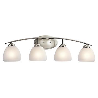 Kichler Lighting 45120NI Calleigh™ 4 Light Vanity Light Brushed Nickel