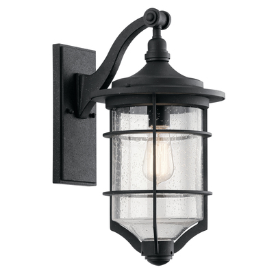 "Kichler Lighting 49127DBK Royal Marine™ 18.25"" 1 Light Wall Light Distressed Black"