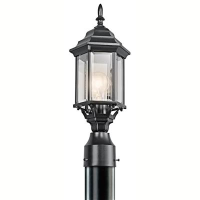 Kichler Lighting 49256BK Outdoor Post Mt 1Lt