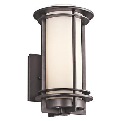 "Kichler Lighting 49344AZ Pacific Edge™ 10.75"" 1 Light Wall Light Architectural Bronze"