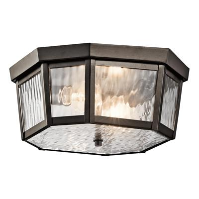 Kichler Lighting 49518OZ Rochdale™ 2 Light Flush Mount Olde Bronze
