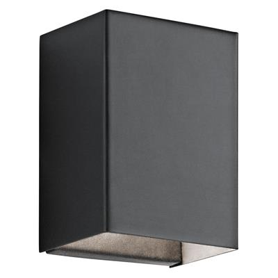 "Kichler Lighting 49550BKTLED Walden 7.25"" LED Wall Light - Textured Black"
