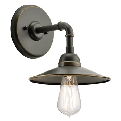 "Kichler Lighting 49585OZ Westington™ 8.25"" 1 Light Wall Light Olde Bronze®"