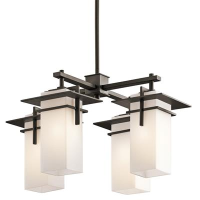 Kichler Lighting 49638OZ Caterham 4 Light Chandelier Olde Bronze®