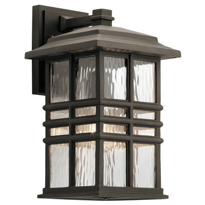 "Kichler Lighting 49830OZ Beacon Square 14"" 1 Light Wall Light Olde Bronze®"